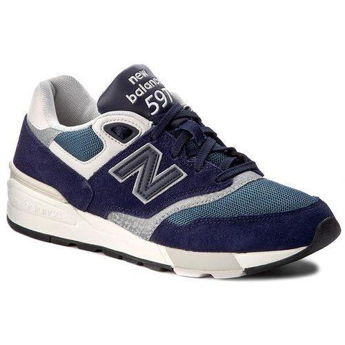 Sneakersy NEW BALANCE - ML597AAA Granatowy, kolor niebieski
