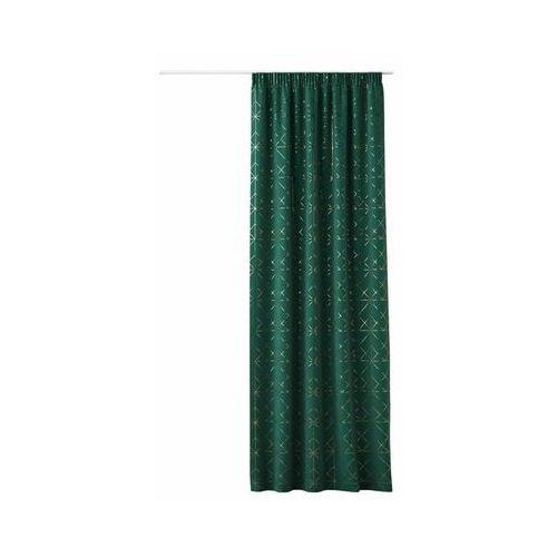 Zasłona GLAMMY zielona 140 x 250 cm na taśmie (5902963474148)