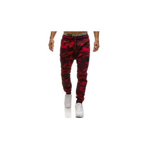 Athletic Spodnie joggery męskie moro-czerwone denley 0829