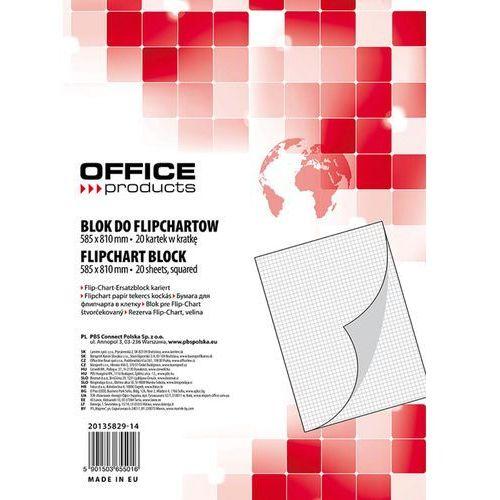 Blok do flipchartów , kratka, 58,5x81cm, 20 kart., biały marki Office products