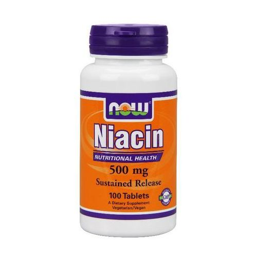 Now Foods Niacin (Niacyna) 500mg 100 tabl. (lek witaminy i minerały)