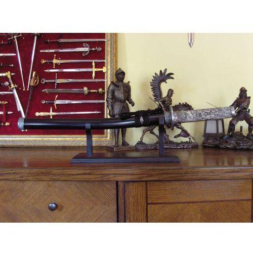 Płatnerze hiszpańscy Bogato zdobione wakizashi w czarnej pochwie (sft251-mar)