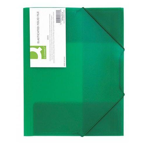 Q-connect  teczka z gumką q-connect, pp, a4, 400mikr., 3-skrz., transparentna zielona - 5705831023130 darmowy odbiór w 20 miastach!