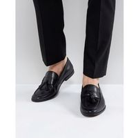 Walk london tassel leather loafers in black - brown