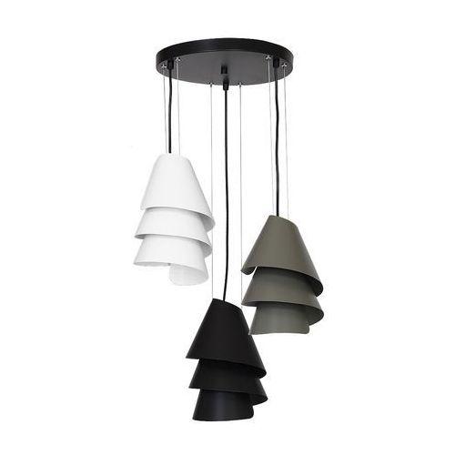 Luminex Lampa wisząca helix 6926 lampa sufitowa 3x60w e27 biały / czarny / szary