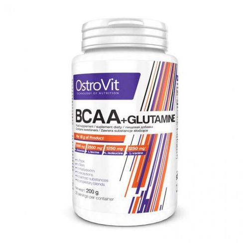 Ostrovit Bcaa + glutamine - bcaa + glutamina  (pojemność:: 200g) (5902232610215)