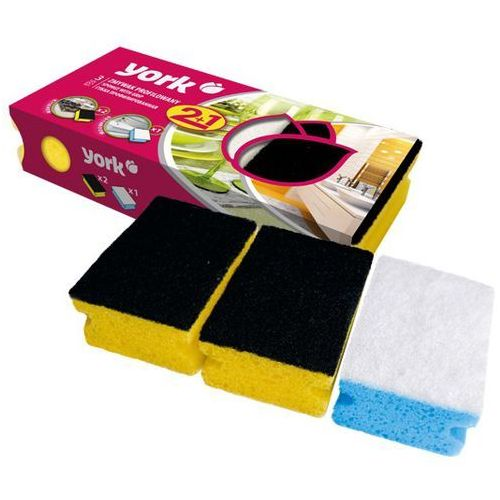 York Zmywak kuchenny 031030 clean&shine (3 szt.) (5903355089780)