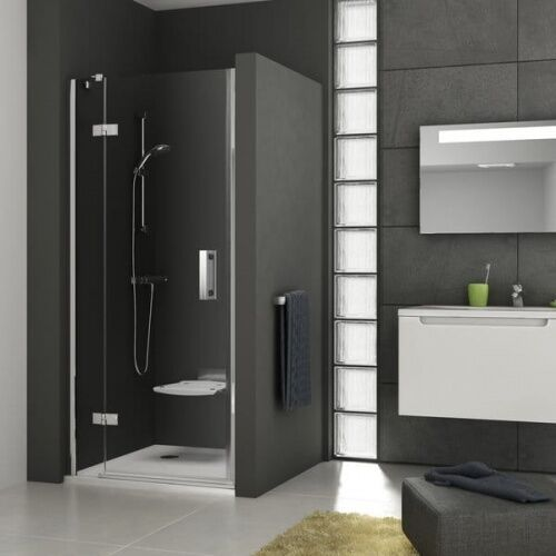 Ravak smartline drzwi prysznicowe smsd2-110b, prawe, chrom+transparent 190 cm 0spdba00z1 (8595096891684)