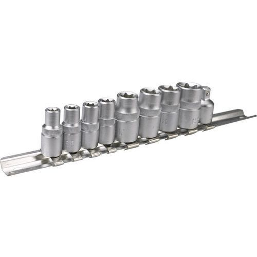 Topex Zestaw nasadek torx 39d375 1/4 i 3/8 cala (9 elementów)