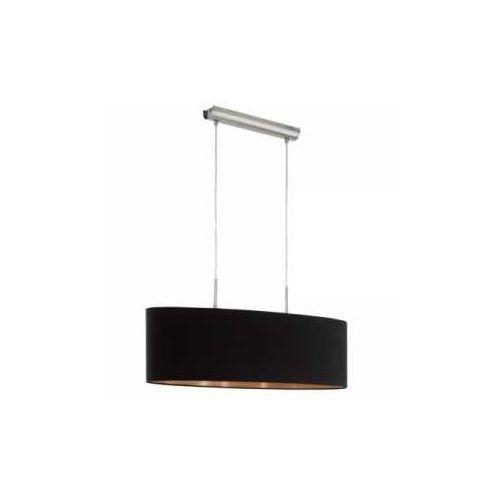 Eglo Lampa wisząca pasteri 94915 z abażurem 2x60w e27 czarny/miedź