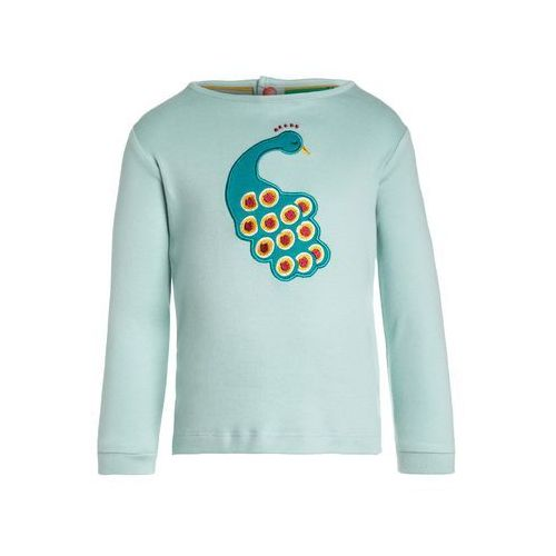 Little Green Radicals MIDNIGHT PEACOCK APPLIQUÉ Bluzka z długim rękawem turquoise (5055770056615)