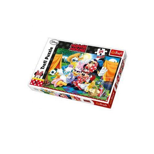 Trefl Puzzle maxi 24 myszka miki i przyjaciele biwak