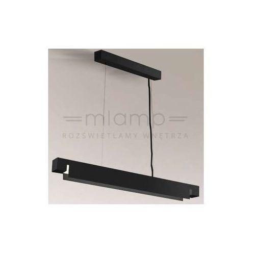 Minimalistyczna LAMPA wisząca SUMOTO 5621/G5/CZ Shilo prostokątna OPRAWA zwis belka czarna, kolor Czarny