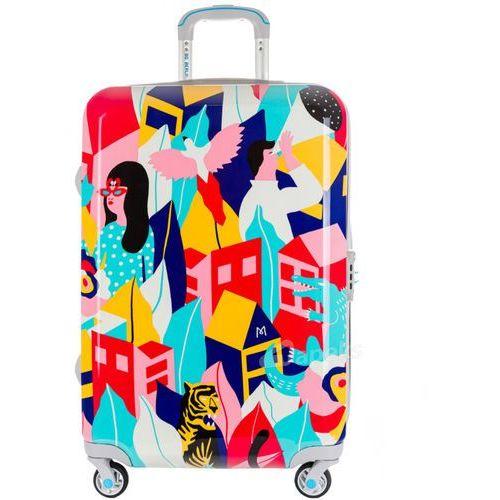 urbe duża walizka na 4 kółkach / 78 cm / looking around - wielokolorowy marki Bg berlin