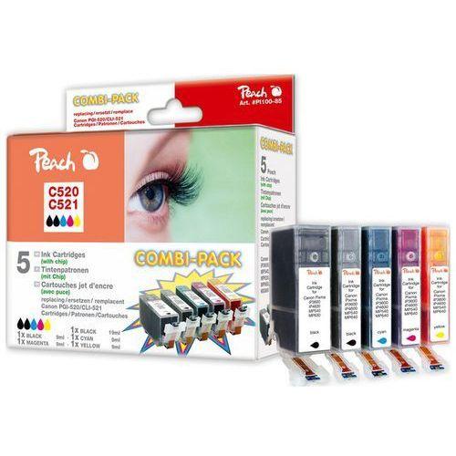 multi pack z chipem, duża wydajność, kompatybilny z cli-521, pgi-520 marki Peach