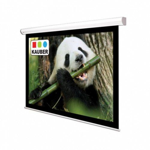 Ekran ścienny elektrycznie rozwijany Kauber White Label 200x150cm, 4:3, Matt White Plus, 1113