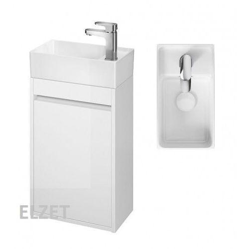 CERSANIT szafka Crea biały połysk + umywalka Crea 40 S924-001+K114-004, kolor biały