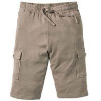 Bermudy dresowe Slim Fit bonprix jasnooliwkowy, bawełna