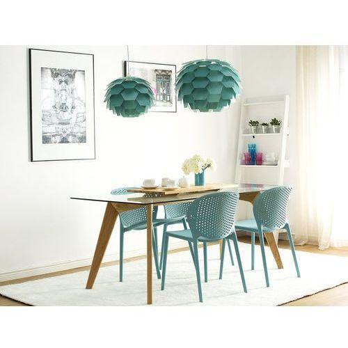 Krzesło do jadalni niebieskie tworzywo sztuczne HOLMDEL