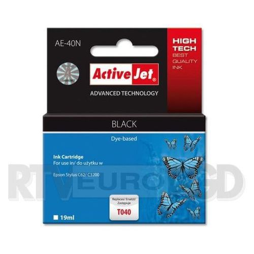 Tusz ActiveJet AE-40N (AE-40) Czarny do drukarki Epson - zamiennik Epson T040, EXPACJAEP0014