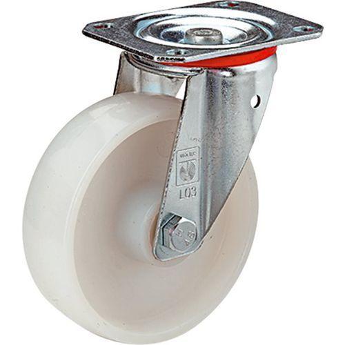Wicke Kółko z poliamidu, obudowa: blacha stalowa, Ø x szer. kółka 80x35 mm, rolka skrę