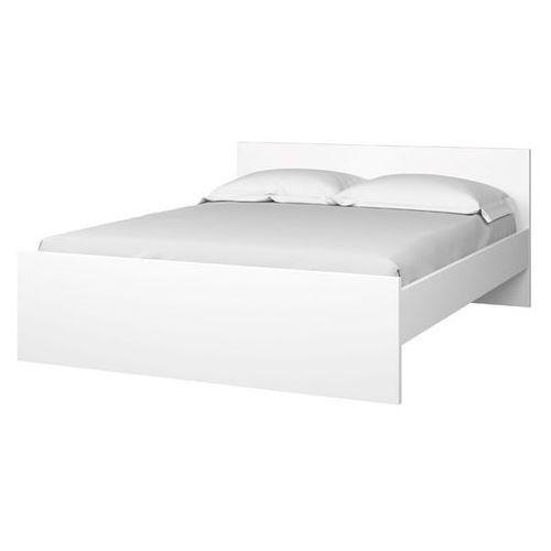 Zestaw naia 140x190 cm łóżko stelaż materac biały połysk marki Tvilum