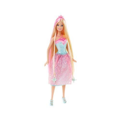 Barbie Mattel magiczne włosy księżniczka - kolor różowy