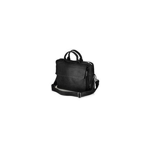 Skórzana męska torba, na laptop Solier Rothen SL30, kolor czarny