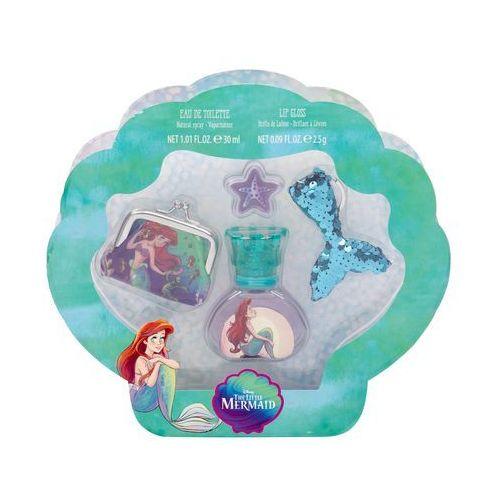 the little mermaid zestaw edt 30 ml + błyszczyk 2,5 g + portfel + breloczek dla dzieci marki Disney princess