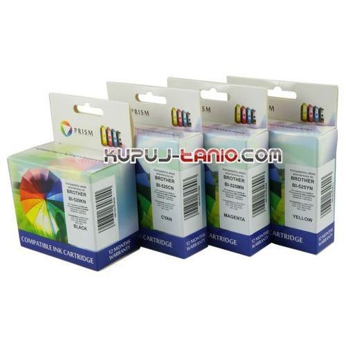 Prism .lc529xl bk-lc525xl tusze do brother (4 szt., ) tusze brother mfc-j200, brother dcp-j100, brother dcp-j105 (9498536529547)