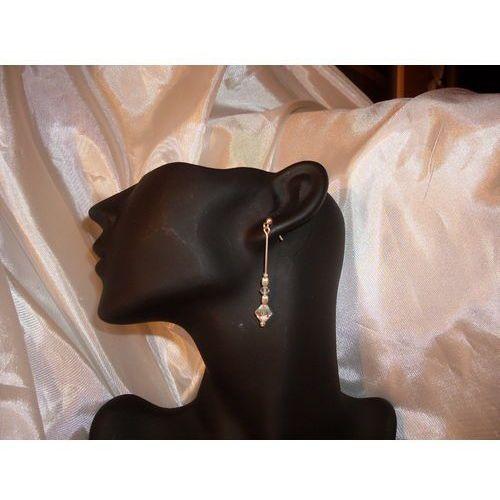 K-00047 Kolczyki z kryształkami Swarovski - w kolorze kryształu, 17-03-11