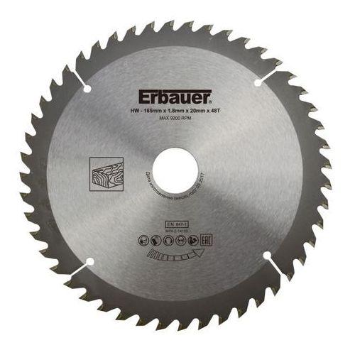 Tarcza do drewna Erbauer 165 x 20/16 mm 48T