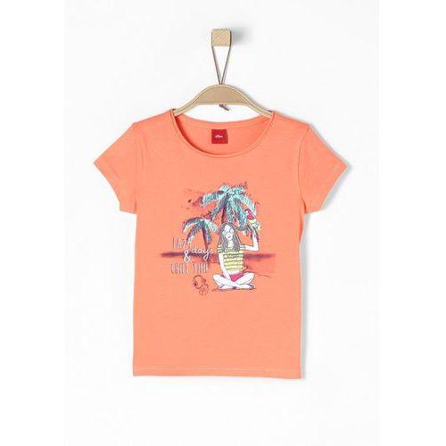 S.oliver t-shirt dziewczęcy 104/110 pomarańczowy (4055268398914)