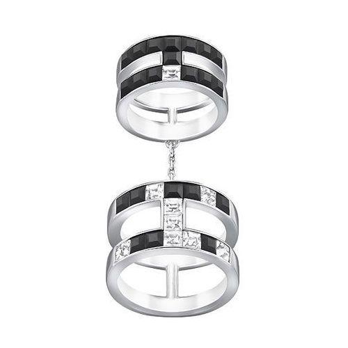 atelier swarovski by viktor and rolf, frozen crystals double ring black wyprodukowany przez Swarovski