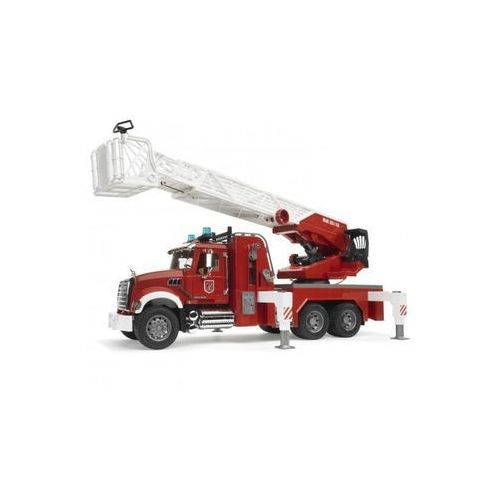 mack granite fire engine with slewing ladder and water pump marki Bruder