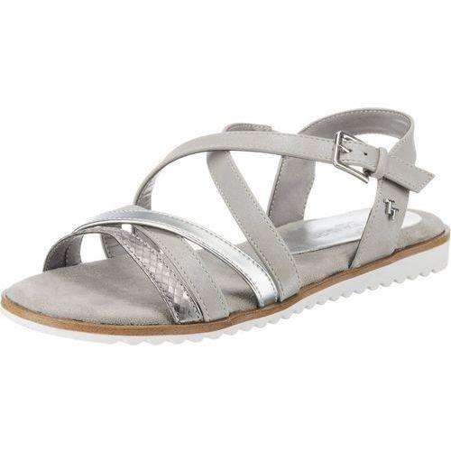 Tom tailor sandały z rzemykami srebrny / biały