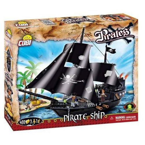 Piraci 400 ELEMENTÓW Statek piracki - Cobi Klocki