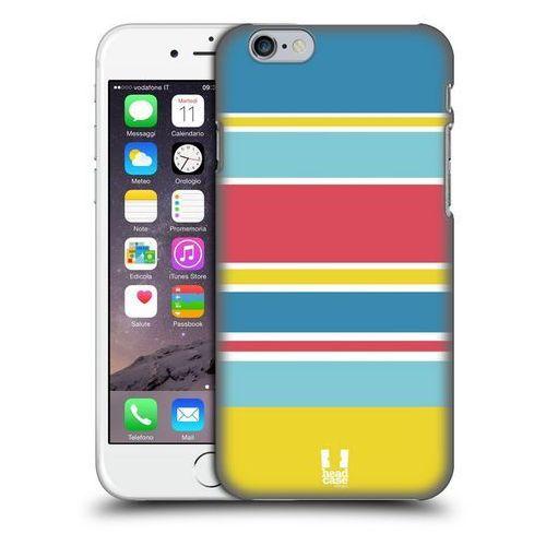 Etui plastikowe na telefon - Paski Niebieskie i Różowe - produkt z kategorii- Futerały i pokrowce do telefonów