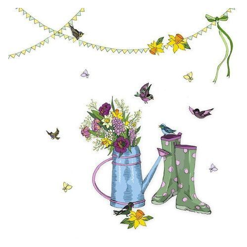 Clear creations Karnet swarovski kwadrat cl2710 konewka z kwiatami