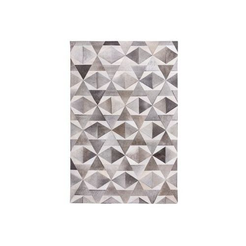 Beliani Dywan szary 160 x 230 cm skórzany alaka (7105275612279)