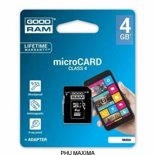 KARTA PAMIĘCI GOODRAM MICRO SD 4GB CLASS 4 ADAPTER, 4B72-556EA_20160927000819