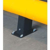 Słupek do bariery drogowej, wys. 400 mm, słupek środkowy. zabezpiecza urządzenia marki Unbekannt