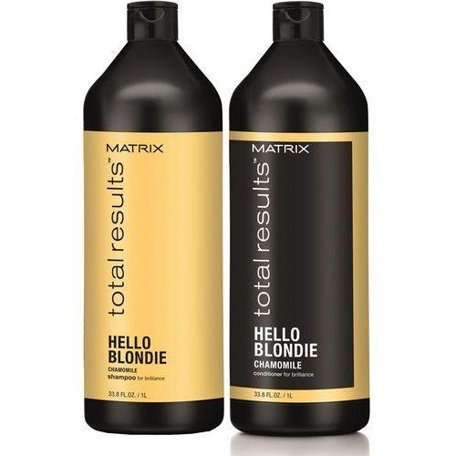 Matrix Total Results Hello Blondie - zestaw do włosów blond: szampon+odżywka 2x1000ml