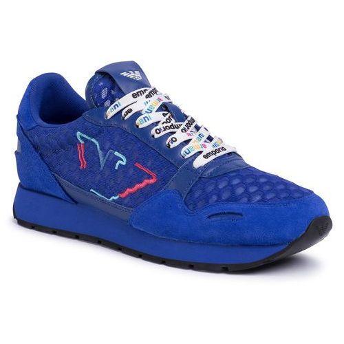 Sneakersy EMPORIO ARMANI - X3X058 XM264 R733 Bluette/Bluette/Blue, kolor niebieski