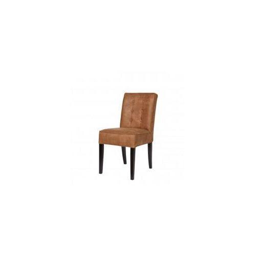 Woood Krzesło fleur brązowe z guzikami -