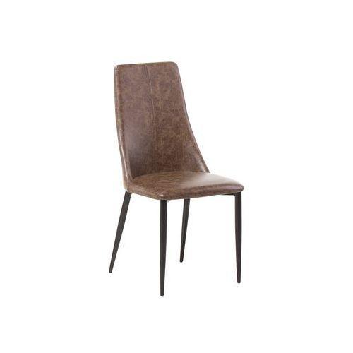 Beliani Krzesło do jadalni brązowe clayton