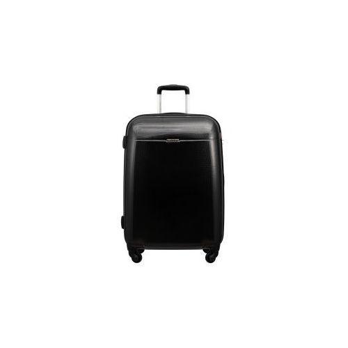 ce071a15a58a3 walizka średnia z kolekcji pc005 voyager twarda 4 koła materiał policarbon  zamek szyfrowy z systemem tsa