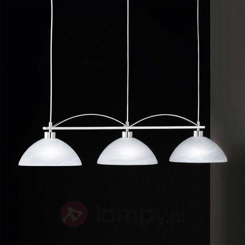 Oświetlenie honsel Honsel brava lampa wisząca nikiel matowy, stal nierdzewna, biały, 3-punktowe
