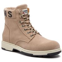 Kozaki TOMMY JEANS - Suede Boot EM0EM00235 Desert Sand 932