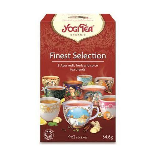 Herbata Ekspresowa Finest Selection (Mix herbatek) BIO (Yogi Tea) 9 x 2 saszetki 34,6g, YOGI